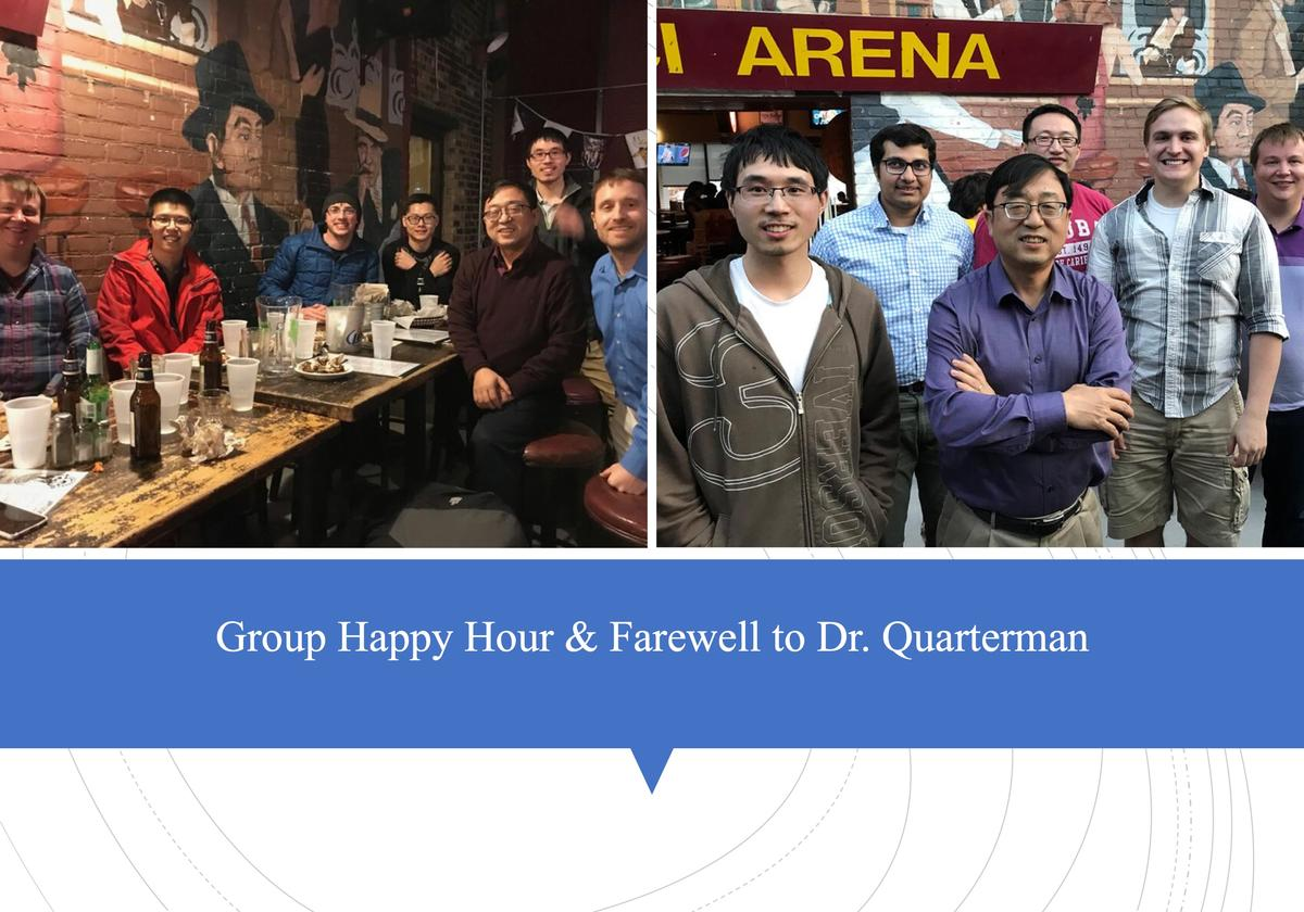 Group Happy Hour & Farewell to Dr. Quarterman!