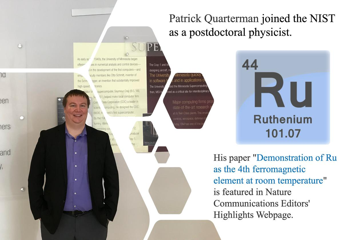 Patrick Quarterman joined the NIST.